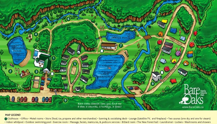 The new Bare Oaks map