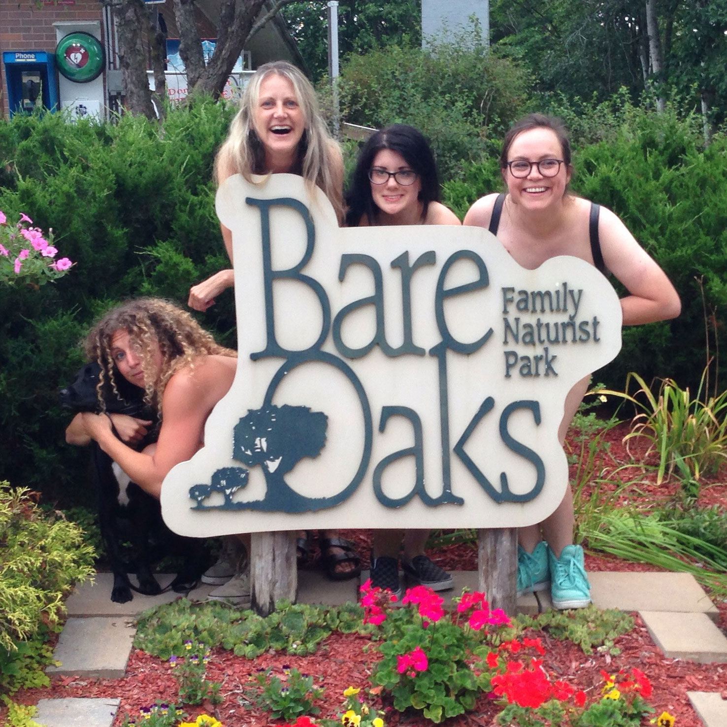 August 2017 nude comedy at Bare Oaks Family Naturist Park