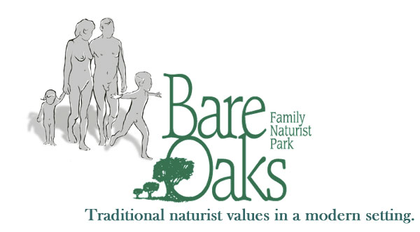 The logo of Bare Oaks Family Naturist Park