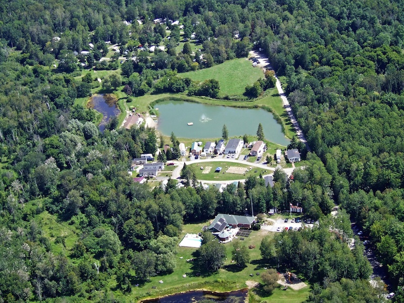 Aerial view of Bare Oaks Family Naturist Park
