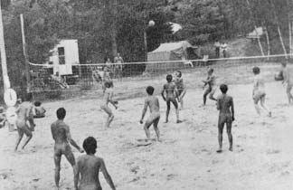 Nude Volleyball History