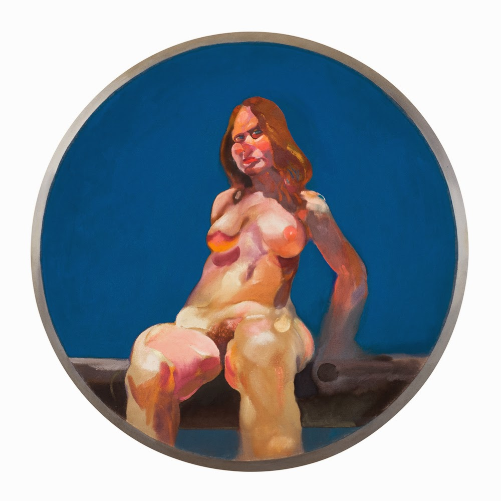 Nude painting of a woman sitting