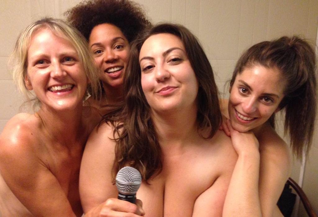 Mary-Janes of Comedy perform clothes-free at Bare Oaks in 2015