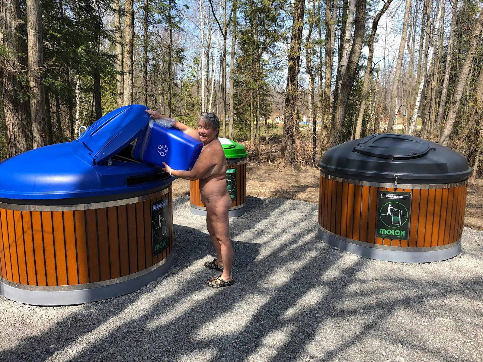 Recycling, composting, and waste disposal using Molok