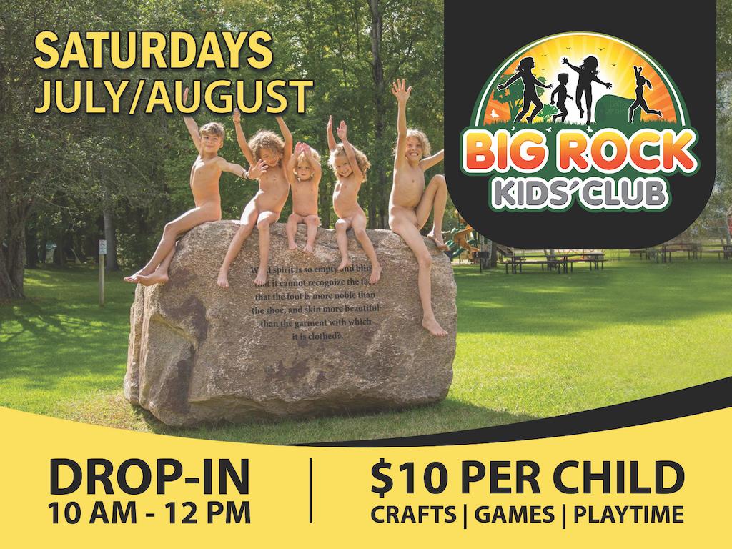 Big Rock Kids Club at Bare Oaks Family Naturist Park