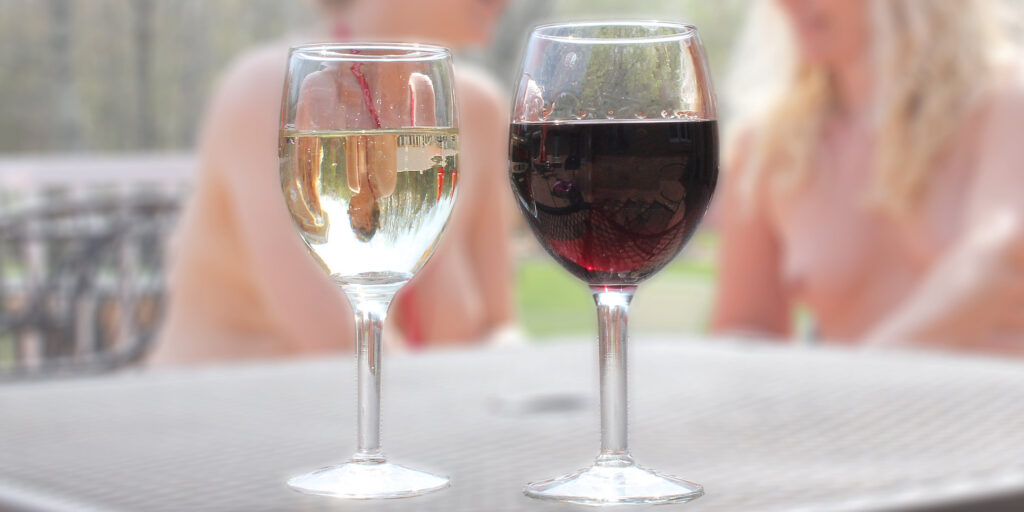 Red and White Wine with friends